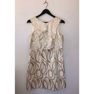 Milly gold shift dress Sz 10